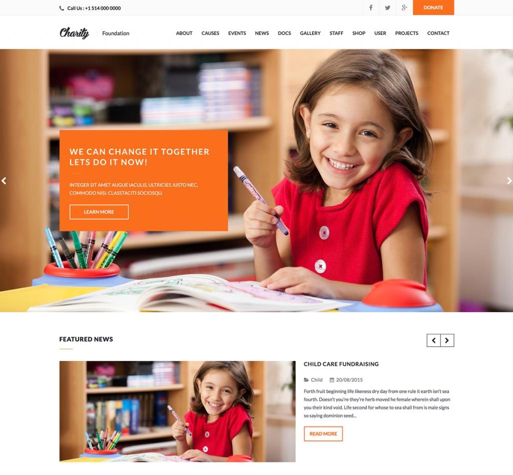 Charity Nonprofit WordPress Theme