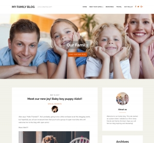 Family Blog WordPress Theme