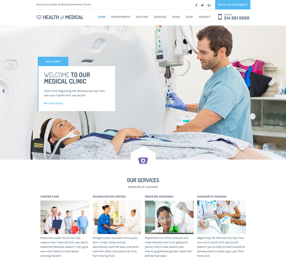 health theme in wordpress  Medical WordPress Theme for Clinics, Doctors, Dentists