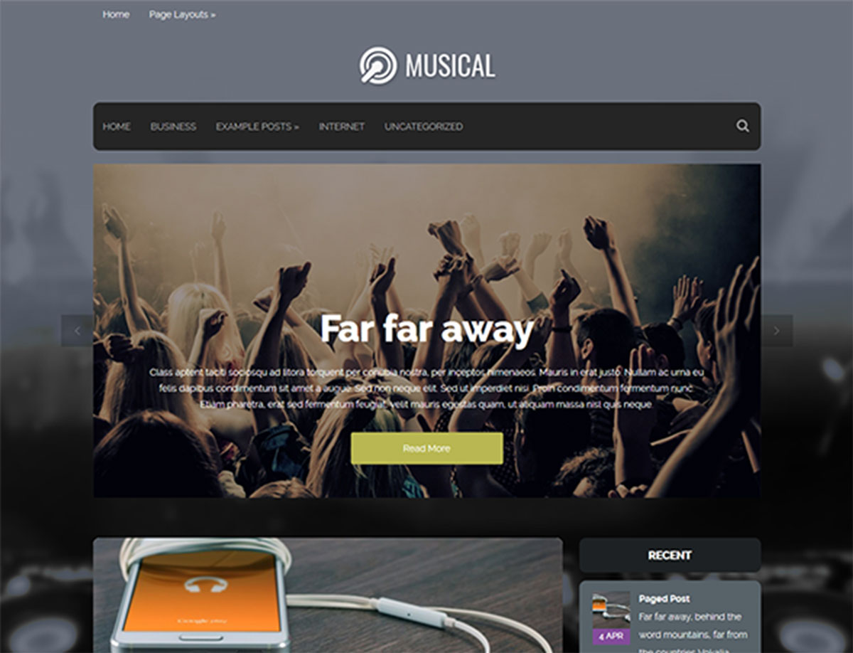 Musical - Free WordPress Theme