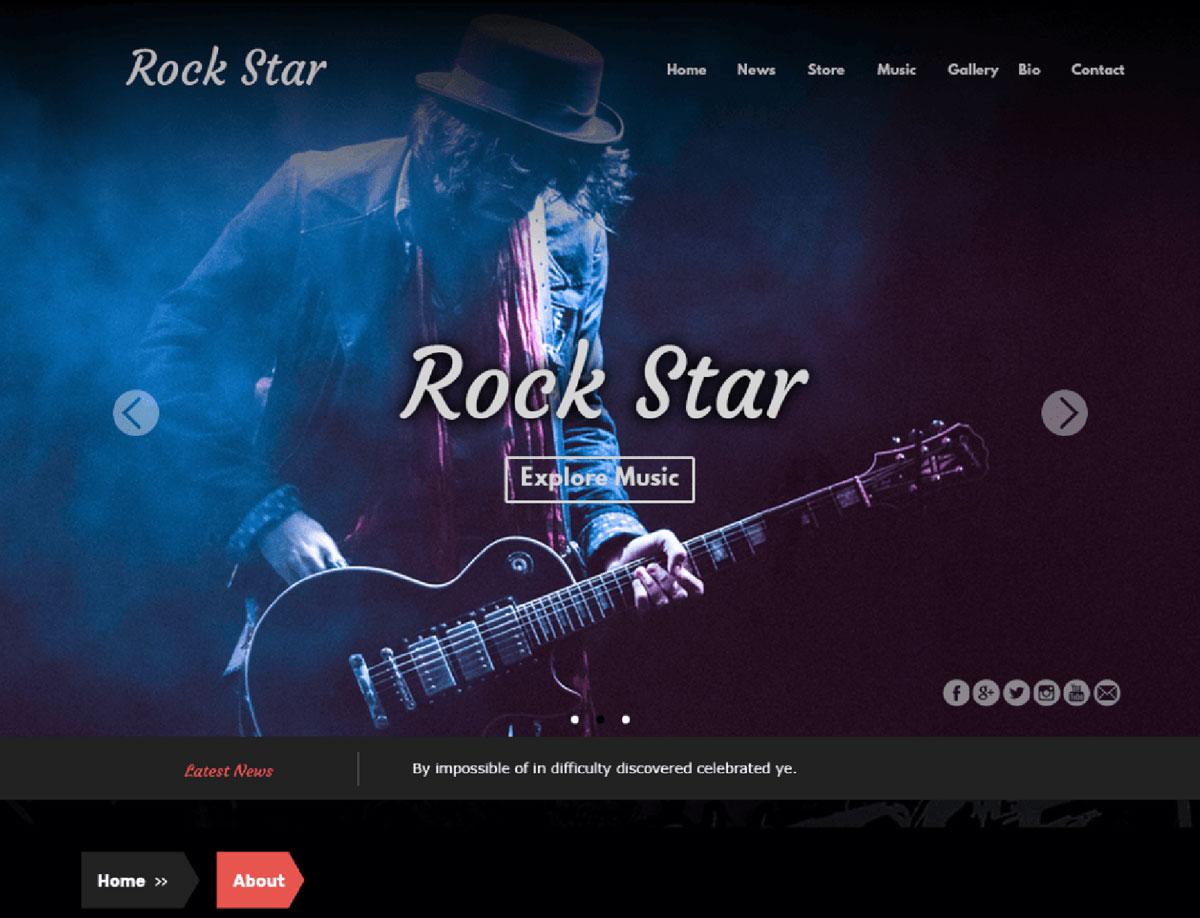 Rock Star — Free WordPress Themes