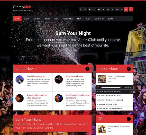 StereoClub WordPress Theme for Clubs
