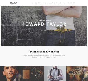 Studio 8 WordPress Theme for Agency, Photographs