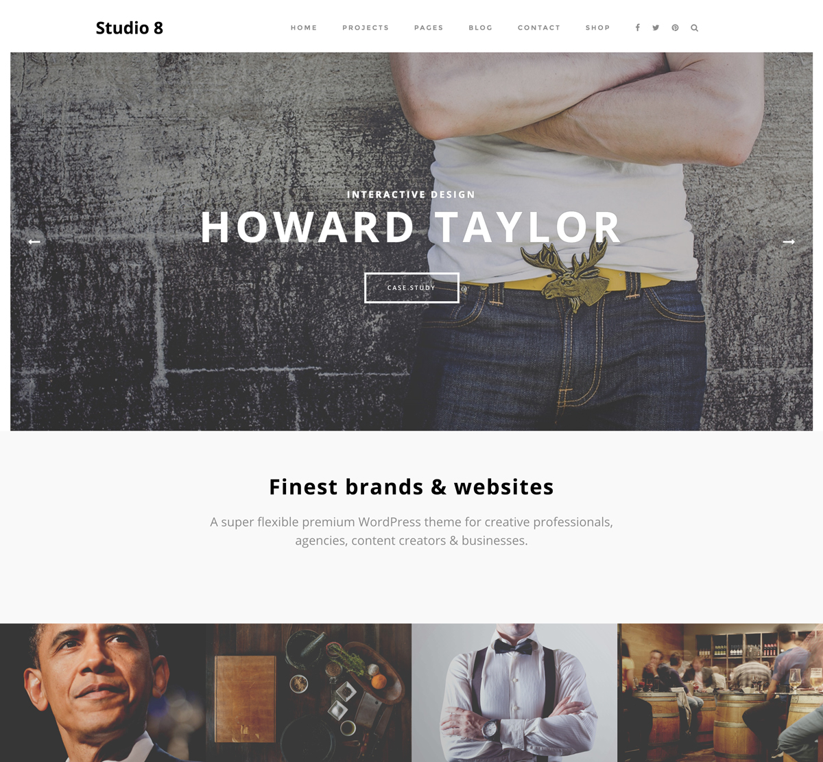 Studio 8 WordPress Theme for Agency, Photographs