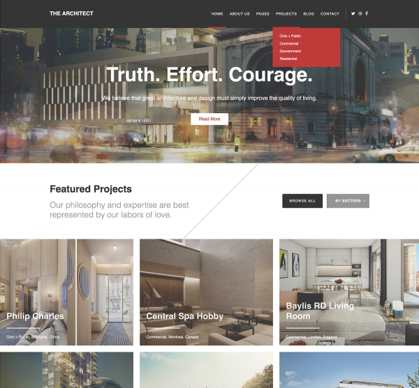 The Architect WordPress Theme for Architects