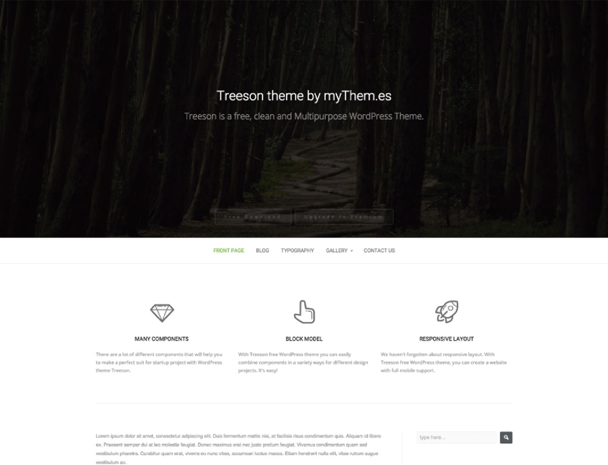 Treeson - Free WP Theme for Bands&Music