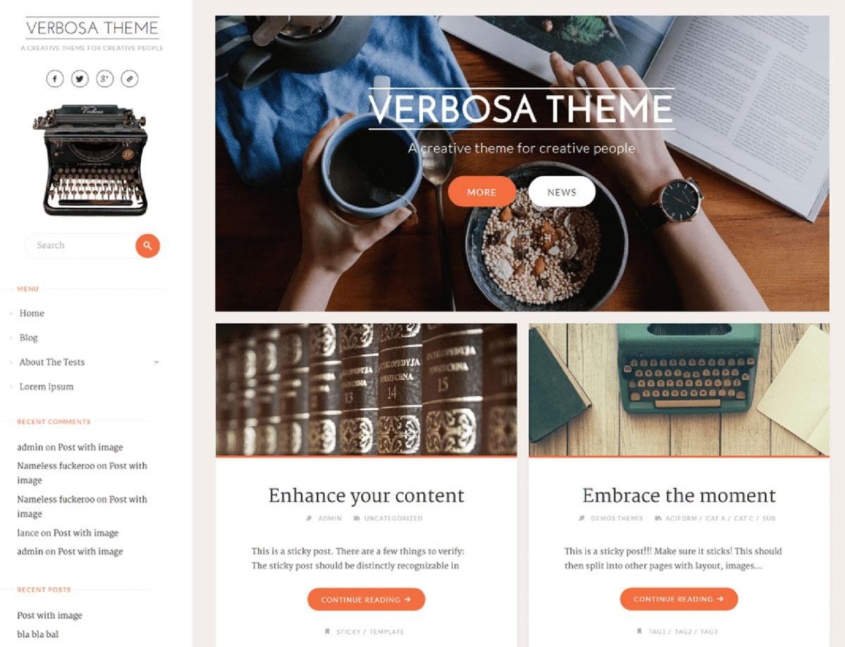 Verbose - Free WordPress Music Theme